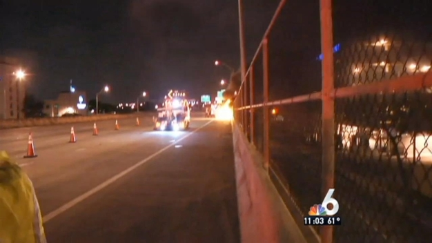 2 Killed in Fiery Crash on I-95 in Miami