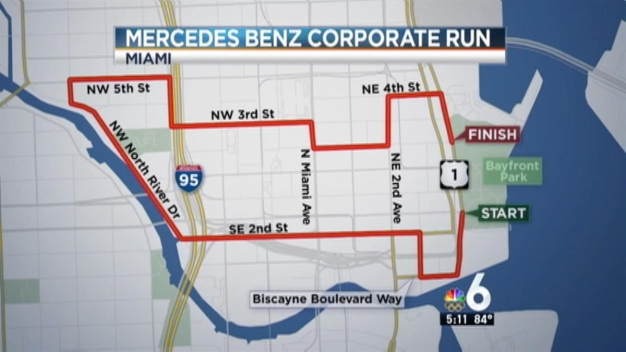 Road Closures for 2016 Mercedes-Benz Corporate Run