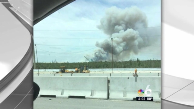 Large Fire in Northwest Miami-Dade