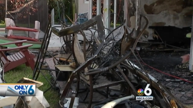 Pompano Beach Homeowner Shows Aftermath of Plane Crash