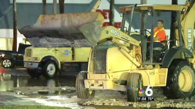 Water Main Break Cutler Bay