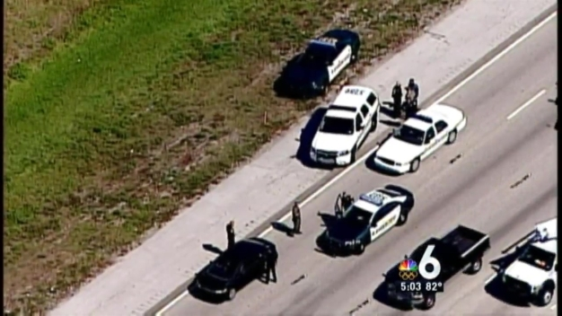 Bank Robbery Suspect in Custody After Brief Chase on I-95