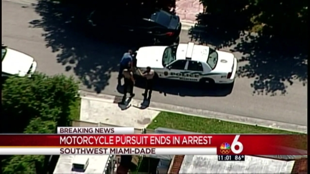 Police Pursuit Ends in Miami-Dade
