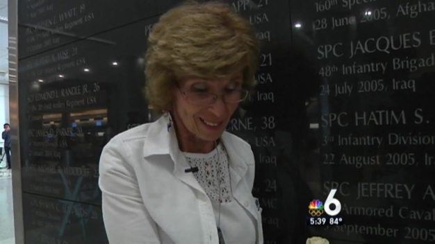 Wall of Honor at MIA for Military Officers Killed Since 9/11