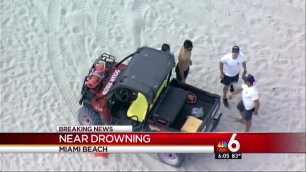 Man Rescued From Water at Miami Beach