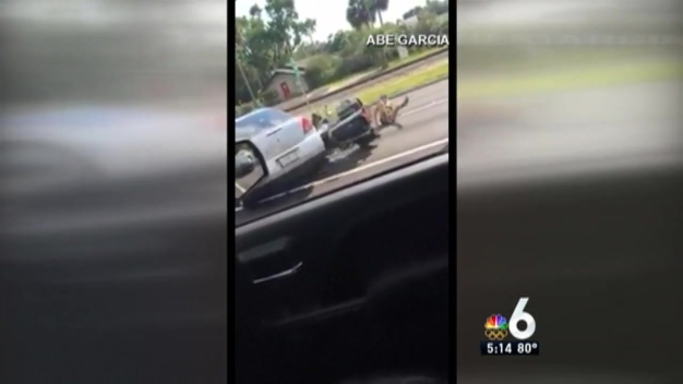 Florida Man Runs Over Motorcycle During Road-Rage Incident