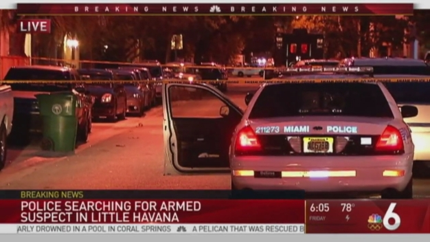 Miami Police search for man who pointed gun at officer