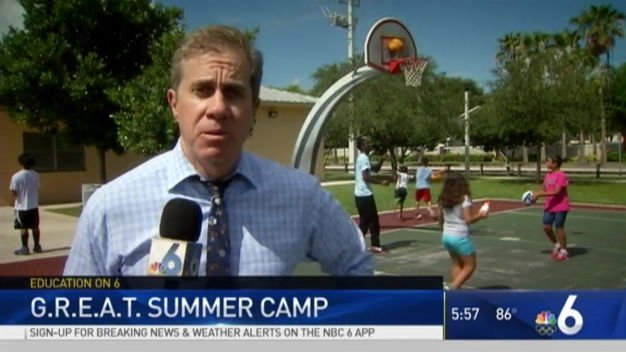Campers Mingle With Cops in Miami-Dade