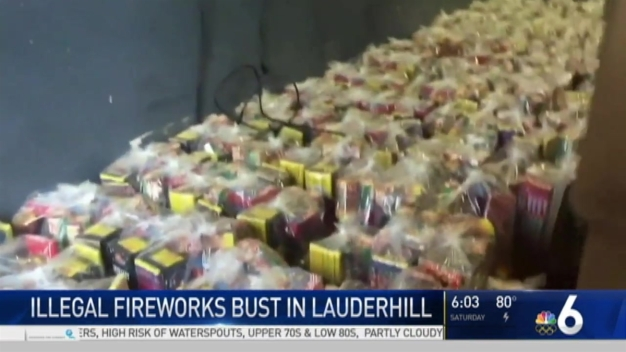 Massive Firework Capture Inside Lauderhill Warehouse