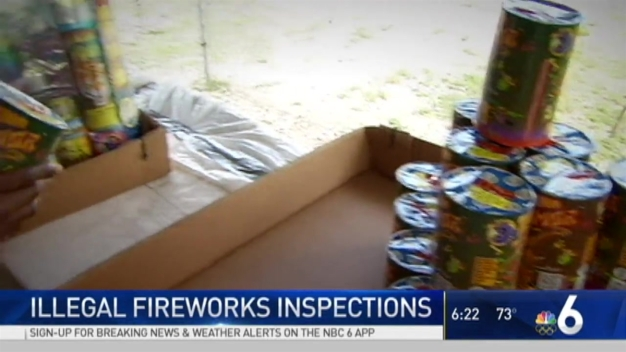Illegal Fireworks Inspections Underway in South Florida