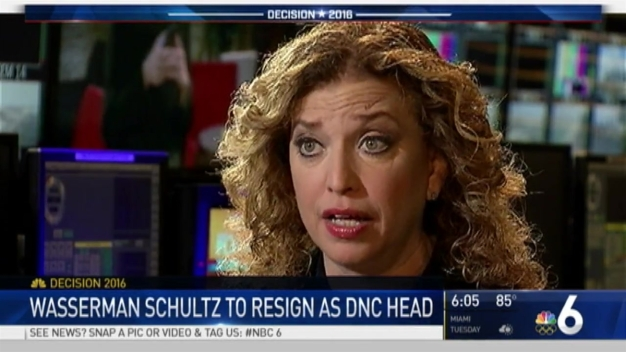 DNC Chairwoman Debbie Wasserman Schultz to Resign