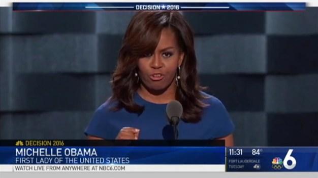 Michelle Obama, Bernie Sanders Speak During Day 1 of the DNC