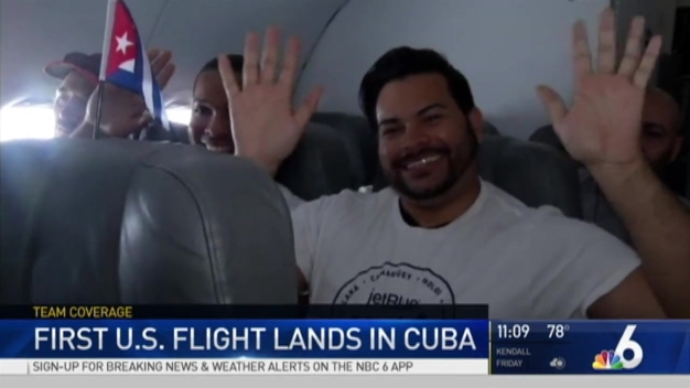 Historic First Commercial Flight Arrives in Cuba