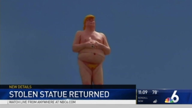 Naked Statue of Donald Trump Returned to Owner, Man Arrested