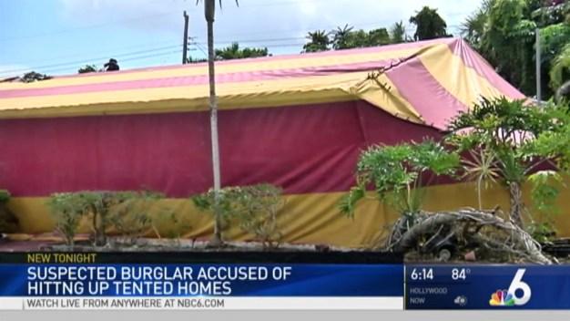 Broward Man Accused of Breaking Into Tented Homes