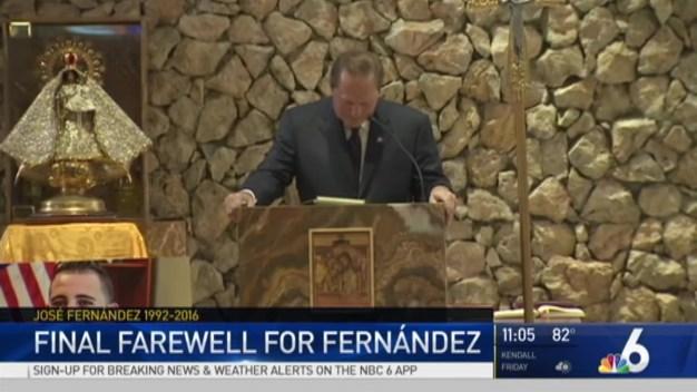 Tearful Goodbye to Jose Fernandez
