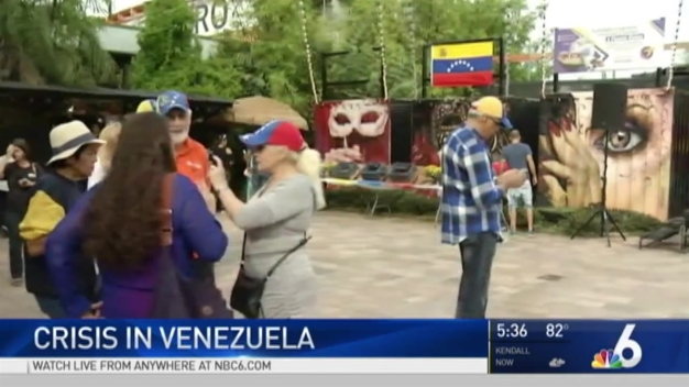 South Florida Residents Rally For Venezuela Amid Chaos