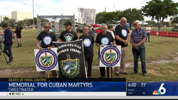 Exiles Gather at Memorial for Cuban Martyrs in Tamiami Park