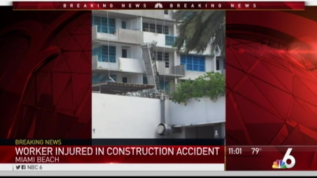 Worker Hospitalized After Scaffolding Fall on Miami Beach