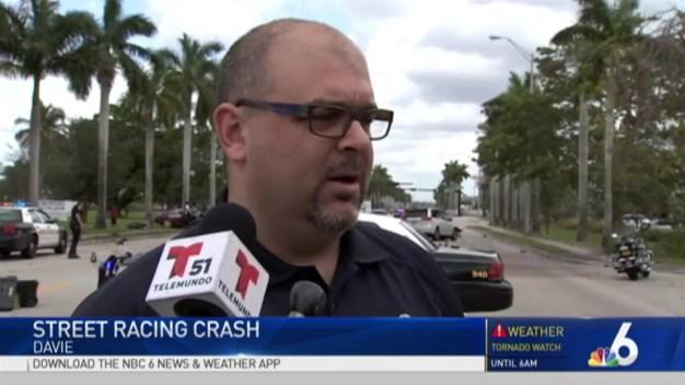 Several Hurt in Davie Crash Caused By Street Racing
