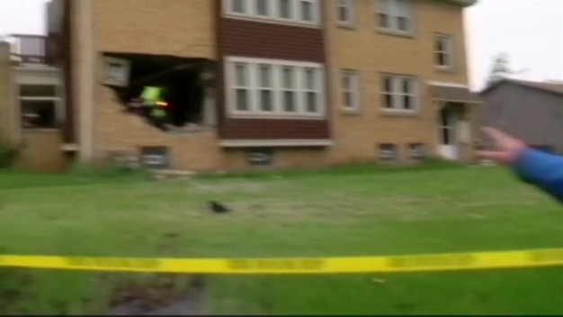 Unbelievable Crash: Jeep Flies Into Home