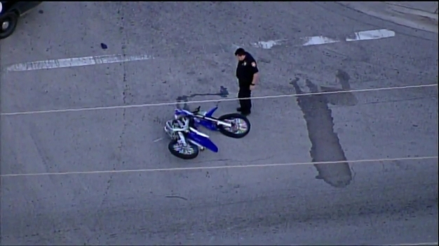 Dirt Bike And Car Crash in Opa-locka