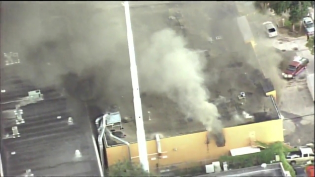 Fire in Hialeah Laundry Building