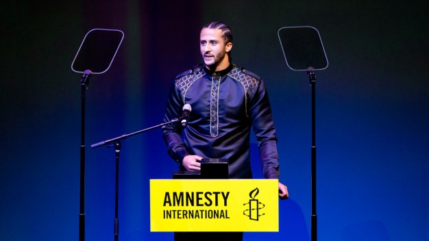 Colin Kaepernick Honored for Inequality Protests