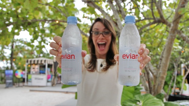 Fashionably Cool With Evian