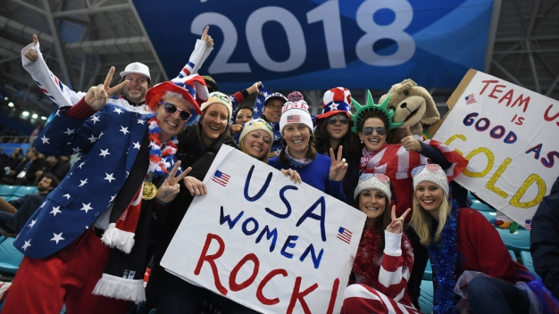 Olympics Fans Wear Their National Spirit on Their Faces