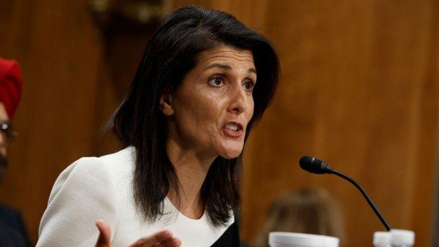 Senate Confirms Haley as Ambassador to UN