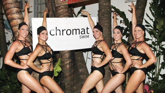Splashing In Chromat for Final Day of Swim Week