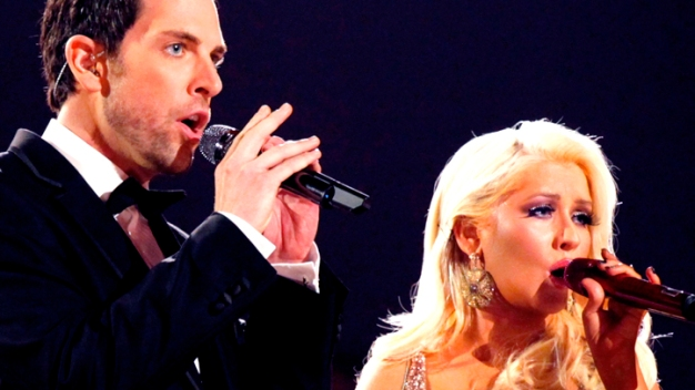 "Aguilera-Lucca Feud Boils Over on ""The Voice"""