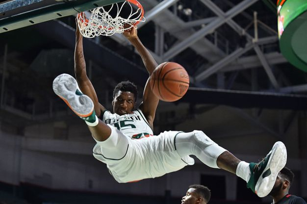 Izundu Leads Hurricanes Basketball Past Stephen F. Austin