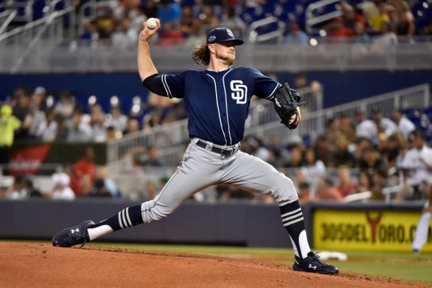 Padres Take No-Hit Bid Into 8th, Hold on to Beat Marlins