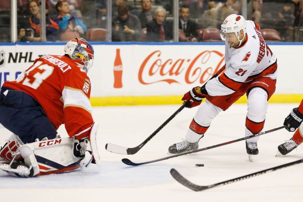 Dzingel Nets 2 Goals as Carolina Tops Florida Panthers