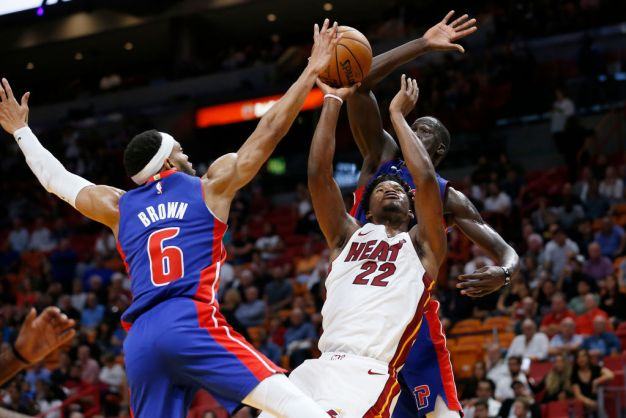Butler Scores 20 as Miami Heat Hang on to Beat Detroit