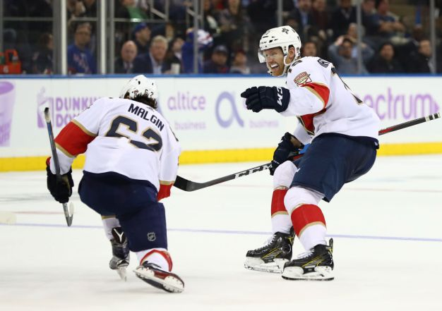 Late Goal Lifts Florida Panthers to Win Over NY Rangers