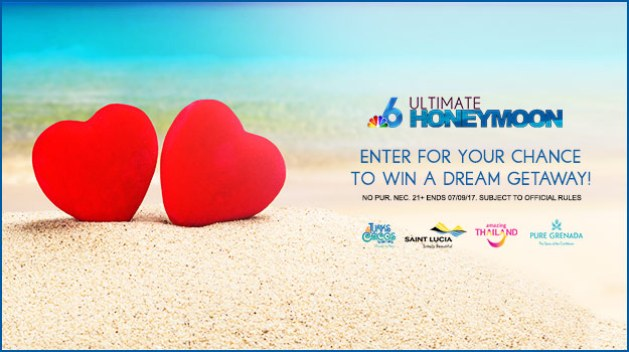 NBC 6 Ultimate Honeymoon Giveaway Sweepstakes 2017