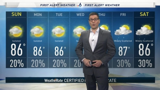 <p>NBC 6 meteorologist Steve MacLaughlin provides a forecast update.</p>