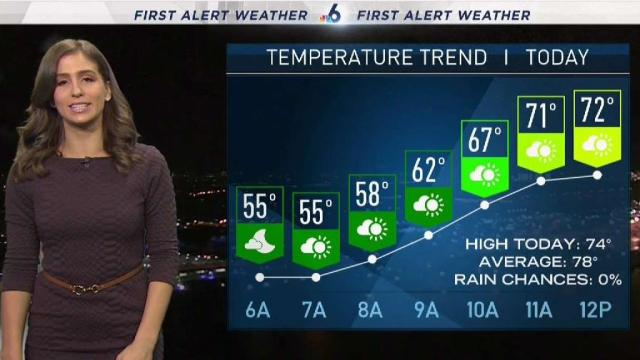 <p>NBC 6's Angie Lassman has your First Alert Doppler 6000 Forecast for Tuesday.</p>