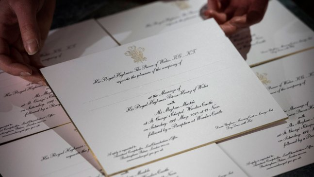 Sealed and Delivered.. Not Yours: Royal Wedding Invites Sent