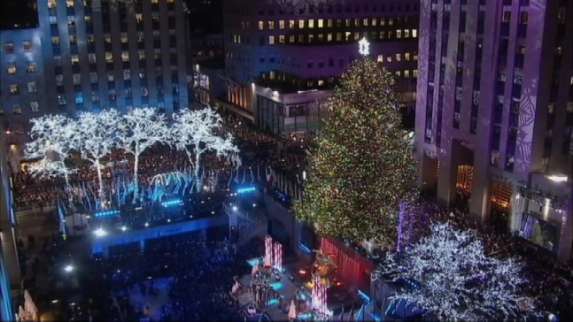 WATCH: Rockefeller Center Tree Lights Up