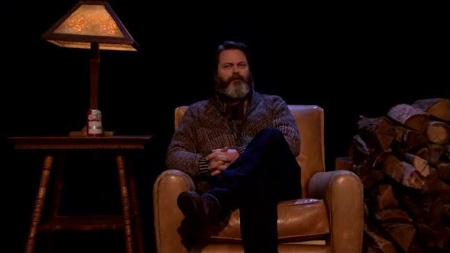 'Tonight Show': Nick Offerman Recites a Poem