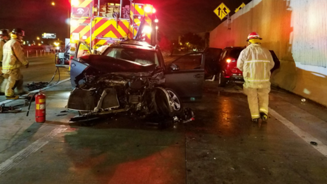 Firefighters Injured In Fatal Crash On NB I-95 in Miami - NBC 6