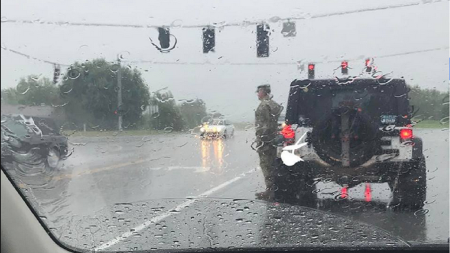 Photo Of Soldier Honoring Funeral Procession Goes Viral