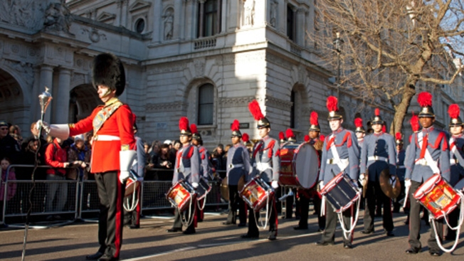 Local High School Participates in London New Year's Day Parade