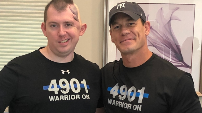 John Cena Surprises Injured Police Officer Who Was Shot in Head