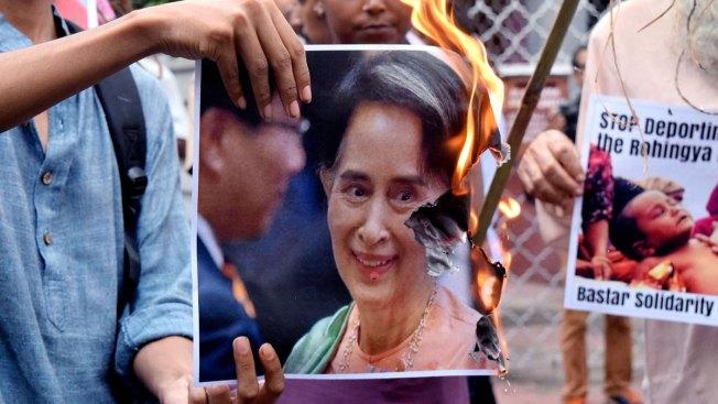 Refugees Flee Nobel Winner's Bloody Muslim Crackdown in Myanmar