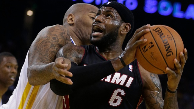 LeBron James' 3-Pointer Lifts Miami Heat Past Warriors, 111-110